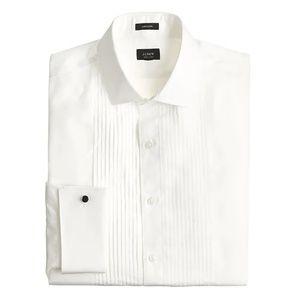J Crew Ludlow Slim Fit Pleated Tuxedo Shirt French